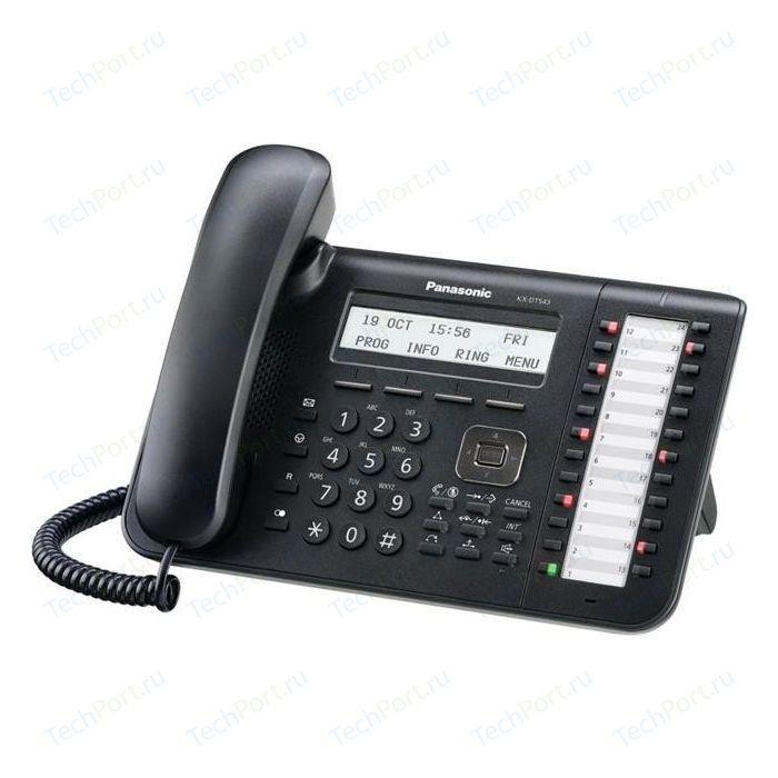 Системный телефон Panasonic KX-DT543RUB panasonic kx dt346ru white цифровой системный телефон