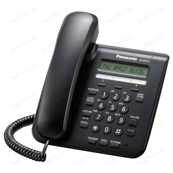 Системный телефон Panasonic KX-NT511ARUB системный телефон panasonic kx t7735ru белый