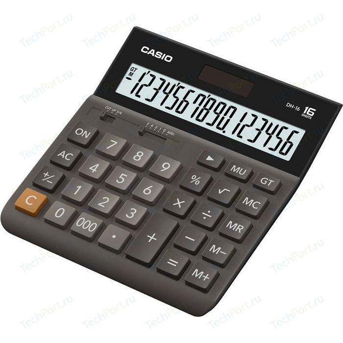 Калькулятор Casio DH-16 коричневый/черный