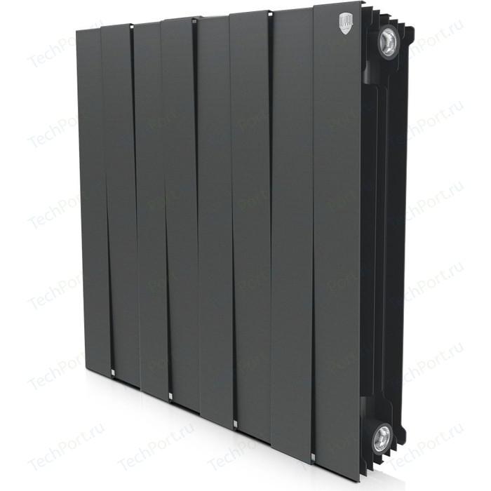 Радиатор отопления ROYAL Thermo биметаллический Piano Forte 500 Noir Sable 8 секций