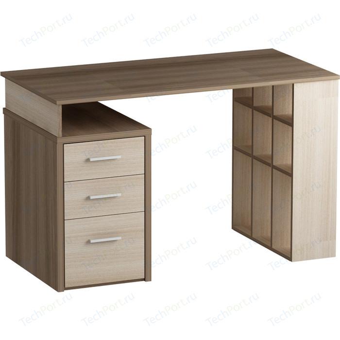 Письменный стол MetalDesign Кварт MD 761.04-05 корпус-ясень темный, ясень светлый