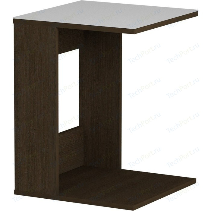 Журнальный стол MetalDesign Смарт MD 731.02.11 корпус-венге/ стекло-белый