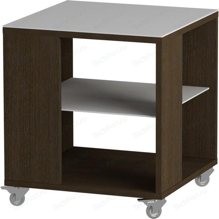 Журнальный стол MetalDesign Смарт MD 732.02.11 корпус-венге/ стекло-белый