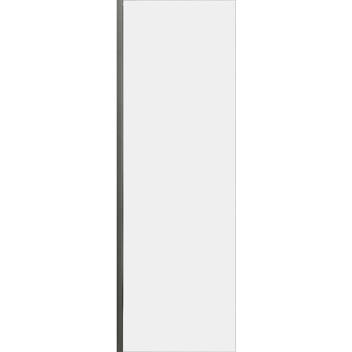 Универсальная боковая панель Cezares Lux Soft FIX 80x200 прозрачная, хром (LUX-SOFT-W-80-FIX-C-Cr-IV)