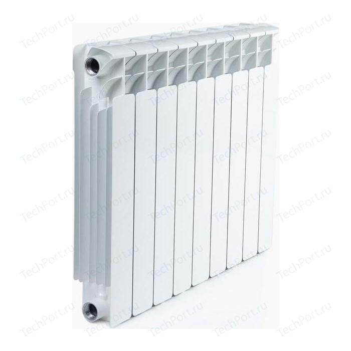 Радиатор отопления RIFAR BASE 500 9 секций биметаллический боковое подключение (RB50009) биметаллический радиатор rifar рифар b 500 нп 10 сек лев кол во секций 10 мощность вт 2040 подключение левое