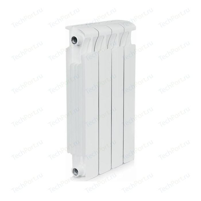 Радиатор отопления RIFAR MONOLIT 500 4 секции биметаллический боковое подключение (RM50004) биметаллический радиатор rifar рифар b 500 нп 10 сек лев кол во секций 10 мощность вт 2040 подключение левое