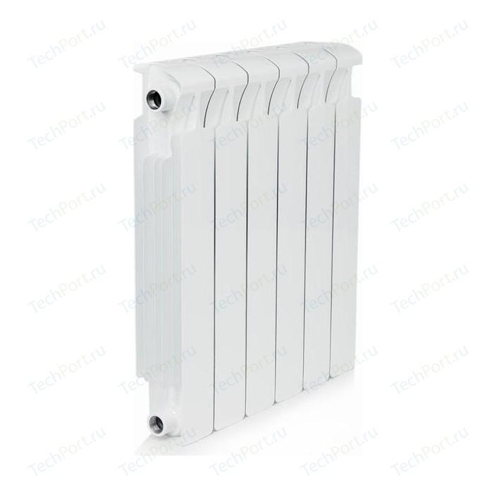 Радиатор отопления RIFAR MONOLIT 500 6 секций биметаллический боковое подключение (RM50006) биметаллический радиатор rifar рифар b 500 нп 10 сек лев кол во секций 10 мощность вт 2040 подключение левое