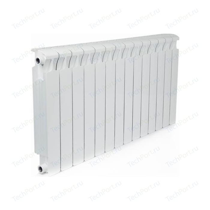 Радиатор отопления RIFAR MONOLIT 500 14 секций биметаллический боковое подключение (RM50014) биметаллический радиатор rifar рифар b 500 нп 10 сек лев кол во секций 10 мощность вт 2040 подключение левое
