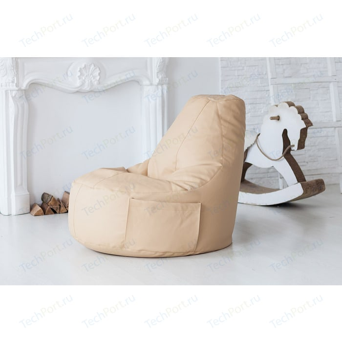 Кресло-мешок DreamBag Comfort creme (экокожа)