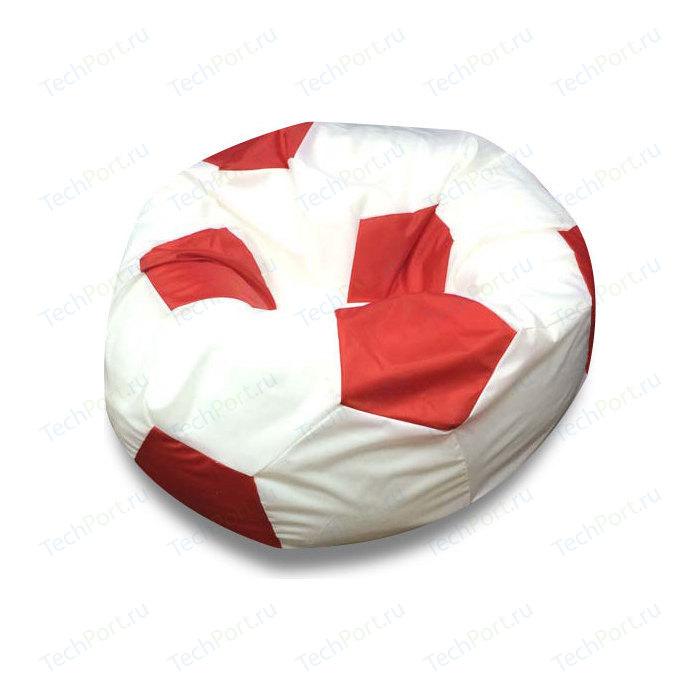 Кресло мяч Bean-bag Оксфорд бело красный