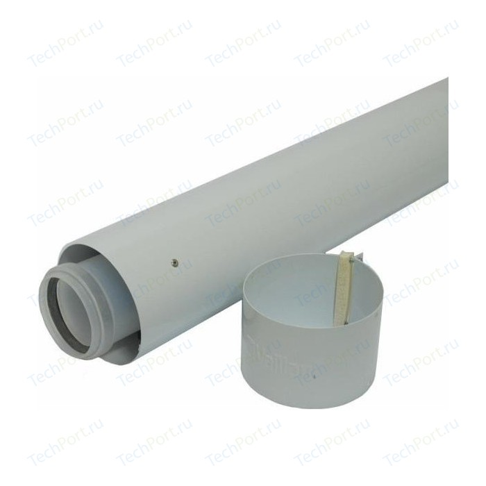 Труба Vaillant удлинительная DN 60/100 длиной 2000 мм в комплекте с хомутом (303803)