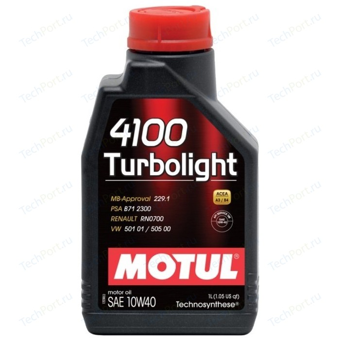 Моторное масло MOTUL 4100 Turbolight 10W-40 1 л