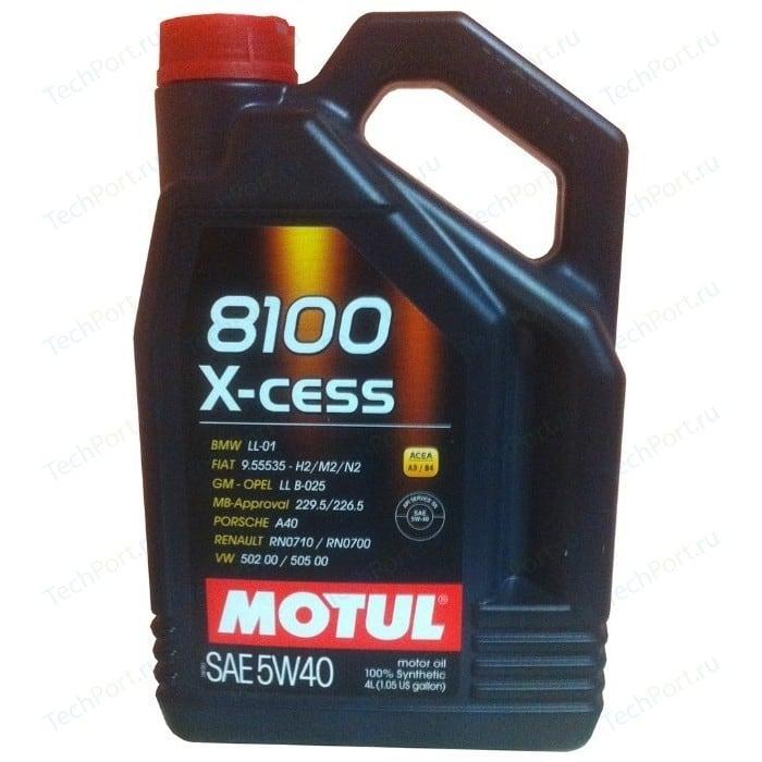 Моторное масло MOTUL 8100 X-cess 5W-40 4 л