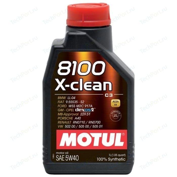 Моторное масло MOTUL 8100 X-clean 5W-40 1 л