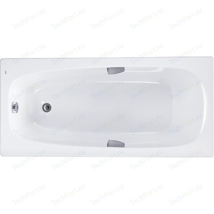 Акриловая ванна Roca Sureste 160х70 с отверстиями под ручки (ZRU9302787) монтажный комплект roca sureste 160х70 см каркас ручки слив перелив крепления zru9302788