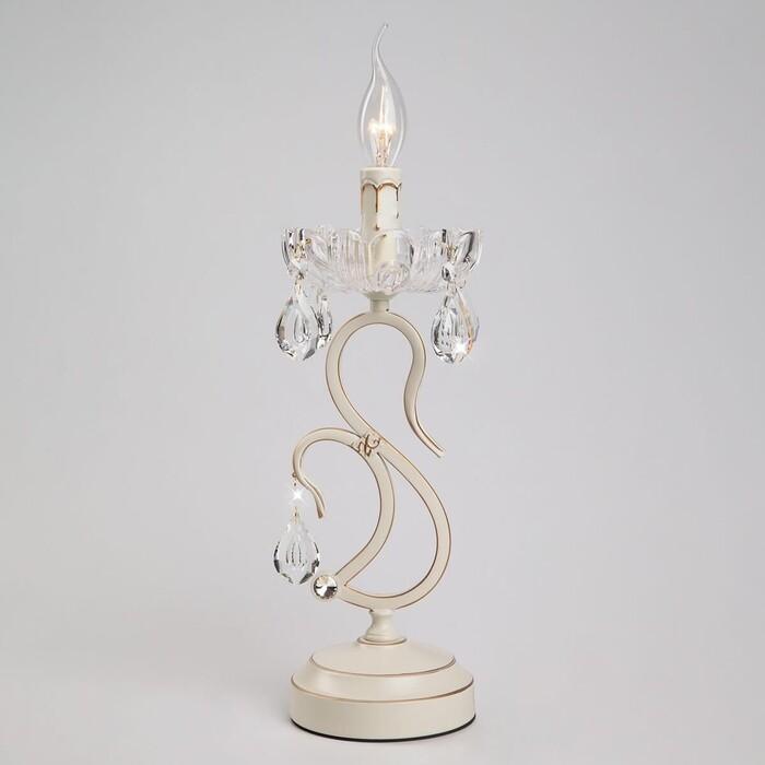Настольная лампа Eurosvet 12205/1T белый Strotskis