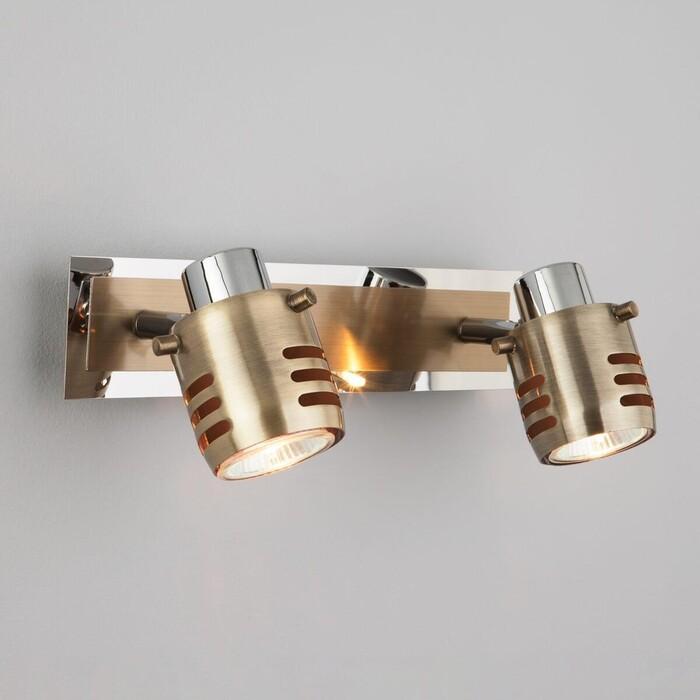 Спот Eurosvet 23463/2 хром/античная бронза спот eurosvet 23463 1 хром античная бронза
