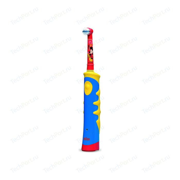 Электрическая зубная щетка Oral-B Mickey Kids желтый/голубой