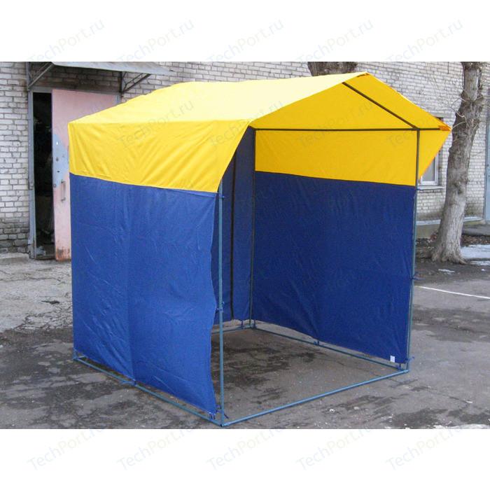 Палатка торговая Митек Домик 2,5х1,9 (разборная)(Синий/Желтый)
