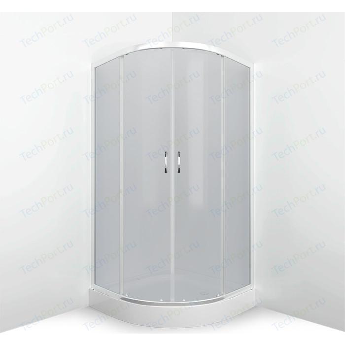 Душевой уголок Erlit Comfort 80x80 профиль хром, стекло тонированное (ER0508-C4)