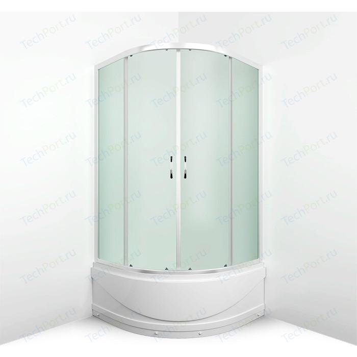 Душевой уголок Erlit Comfort 80x80 профиль хром, стекло матовое (ER0508T-C3)