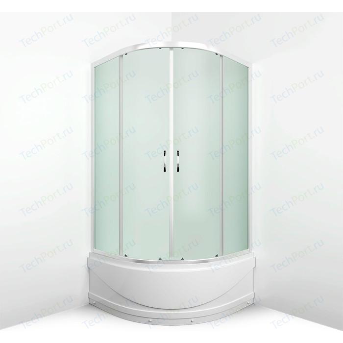 Душевой уголок Erlit Comfort 100x100 профиль хром, стекло матовое (ER0510T-C3)