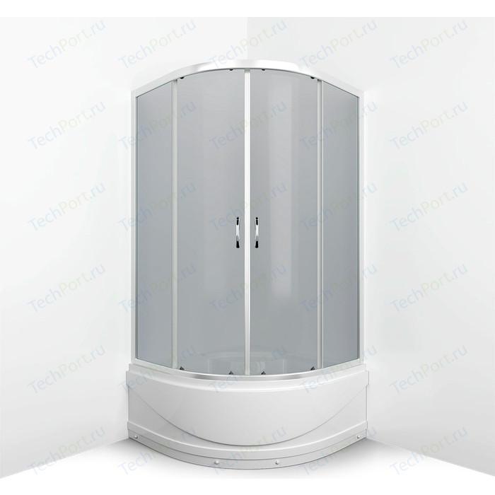 Душевой уголок Erlit Comfort 90x90 профиль хром, стекло тонированное (ER0509T-C4)