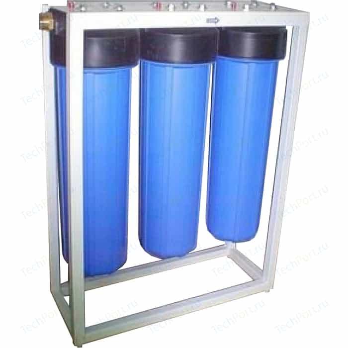 Фильтр предварительной очистки Гейзер 3 И ВВ 20 (без картриджей) на раме (32062)