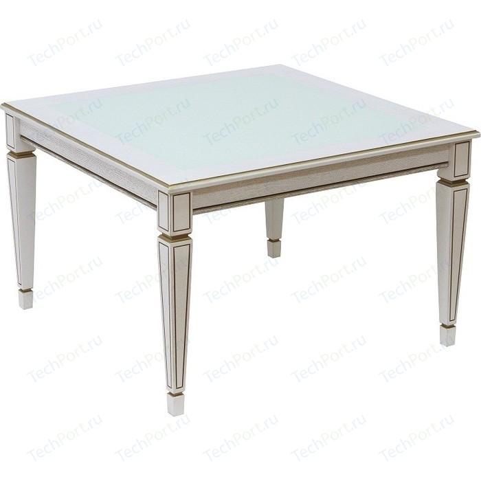 Стол журнальный Мебелик Васко В 80С белый ясень