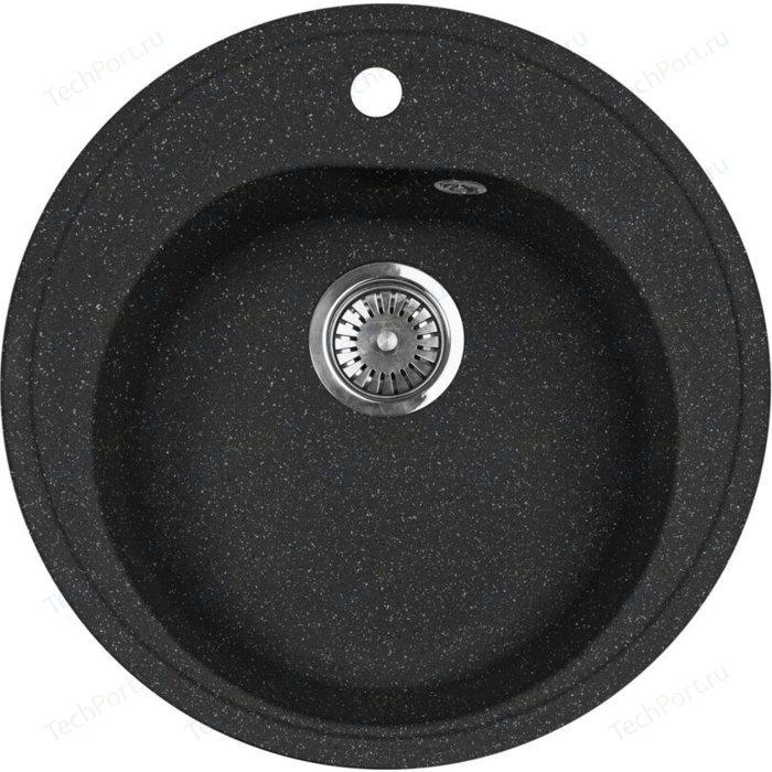 Кухонная мойка AquaGranitEx M-08 (308) черный