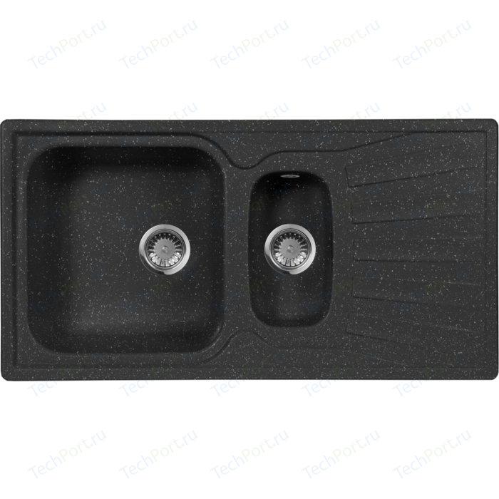 Кухонная мойка AquaGranitEx M-09K (308) черный