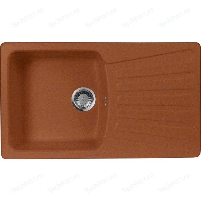 Кухонная мойка AquaGranitEx M-12 (307) терракот