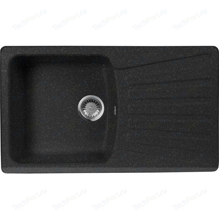 Кухонная мойка AquaGranitEx M-12 (308) черный