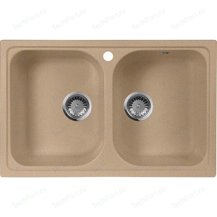 Кухонная мойка AquaGranitEx M-15 (302) песочный