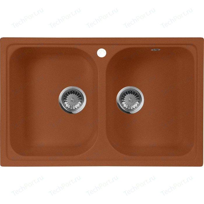 Кухонная мойка AquaGranitEx M-15 (307) терракот