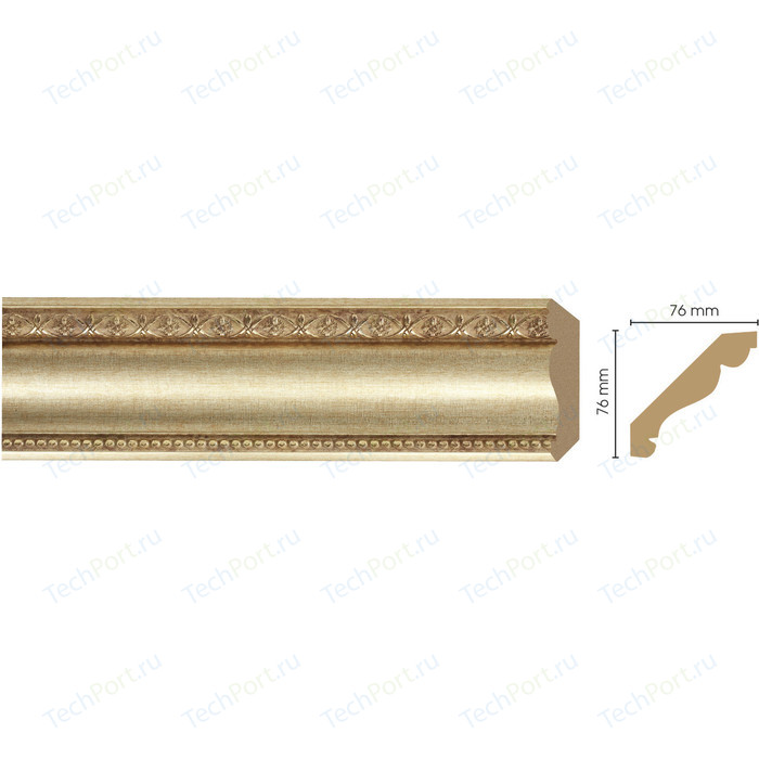 Плинтус Decomaster Матовое золото цвет 933 76х76х2400 мм (154-933) орнамент из полиуретана decomaster 66141r 145х80х16 мм
