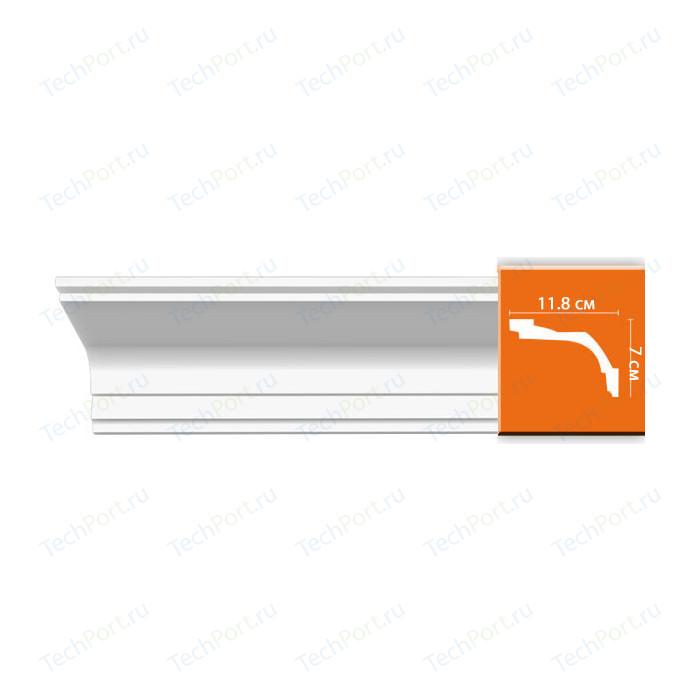 Профиль Decomaster DECOMASTER-2 цвет белый 118х70х2400 мм (96220) молдинг decomaster decomaster цвет белый 66х16х2000 мм a022