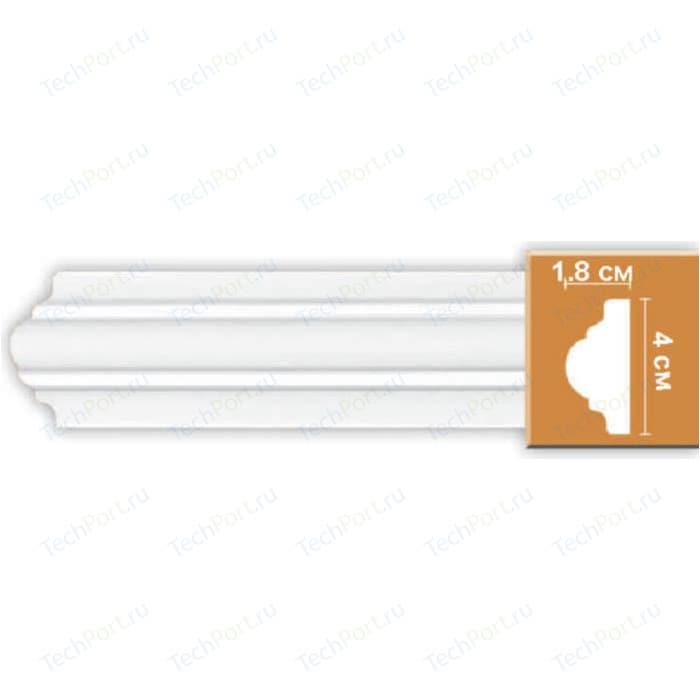 Молдинг Decomaster DECOMASTER-2 цвет белый 18х40х2400 мм (97010) молдинг decomaster decomaster цвет белый 66х16х2000 мм a022