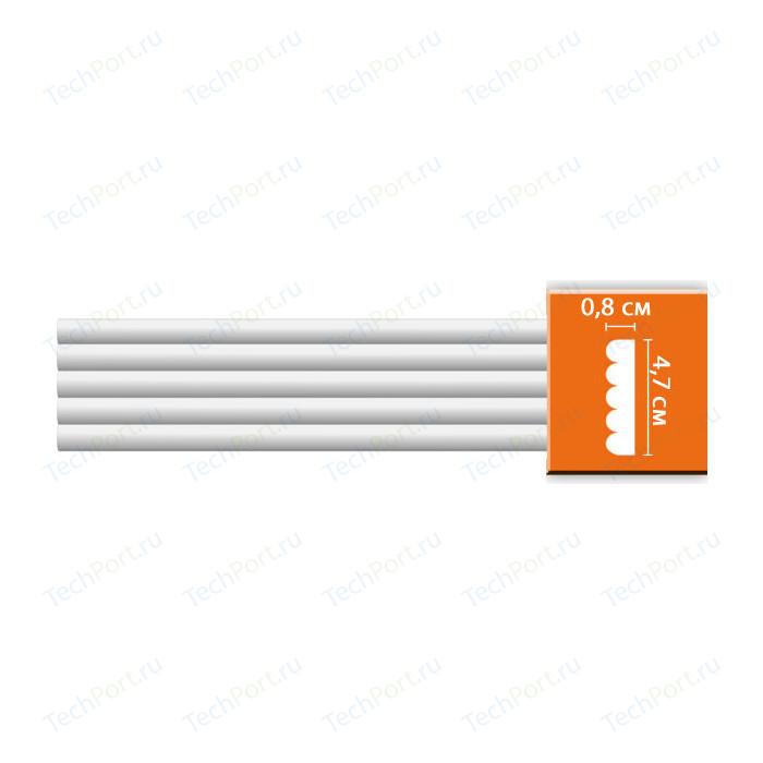 Молдинг Decomaster DECOMASTER-2 цвет белый 47х9х2400 мм (97607) багет из дюрополимера decomaster ренессанс 807 552 2900х40х20 мм