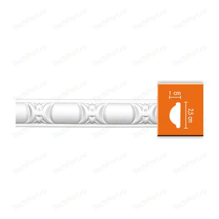 Молдинг Decomaster DECOMASTER-2 цвет белый 10х25х2400 мм (98013)