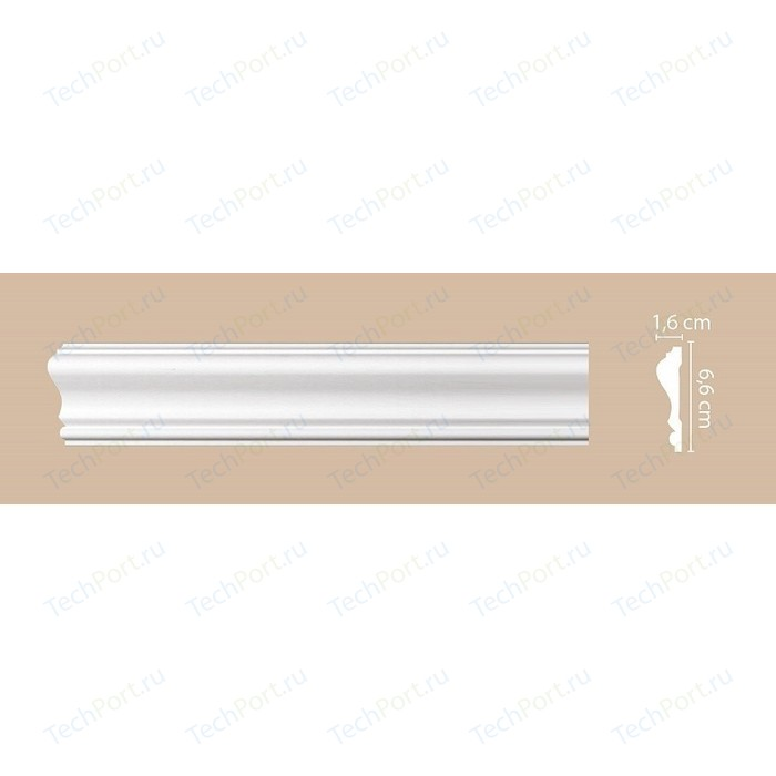 Молдинг Decomaster DECOMASTER цвет белый 19х11х2000 мм (A019)