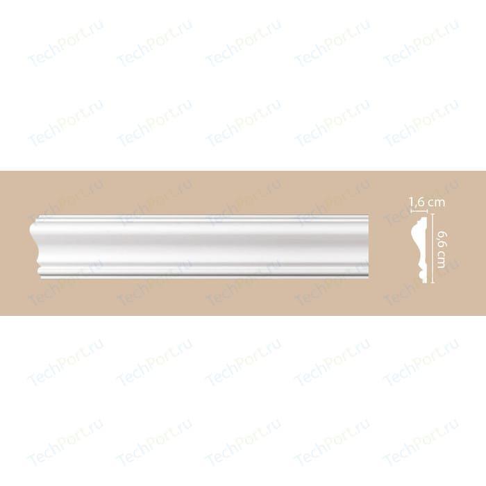 Молдинг Decomaster DECOMASTER цвет белый 66х16х2000 мм (A022)