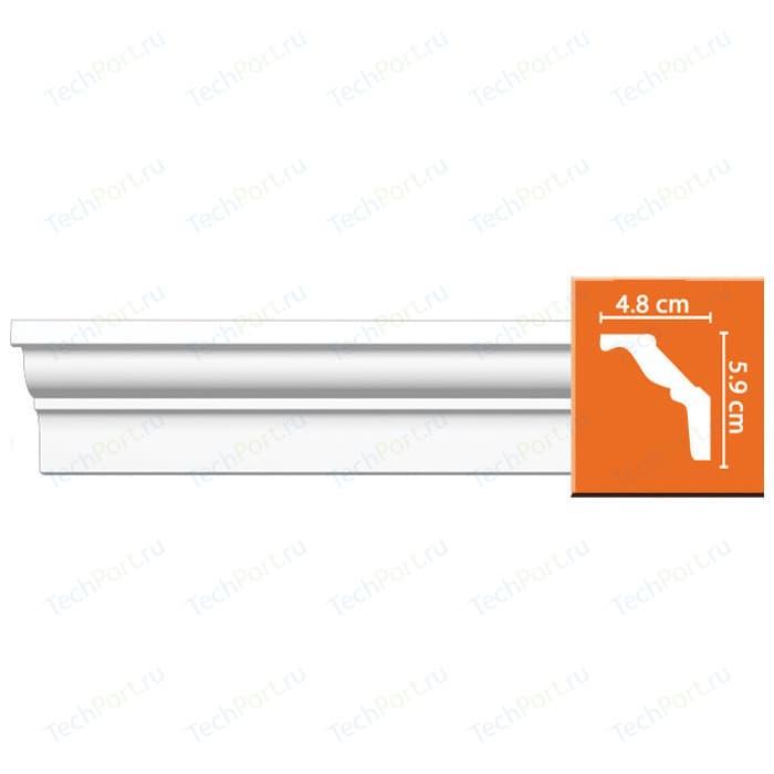 Профиль Decomaster DECOMASTER-2 цвет белый 48х59х2400 мм (DP 18) орнамент из полиуретана decomaster 66141r 145х80х16 мм