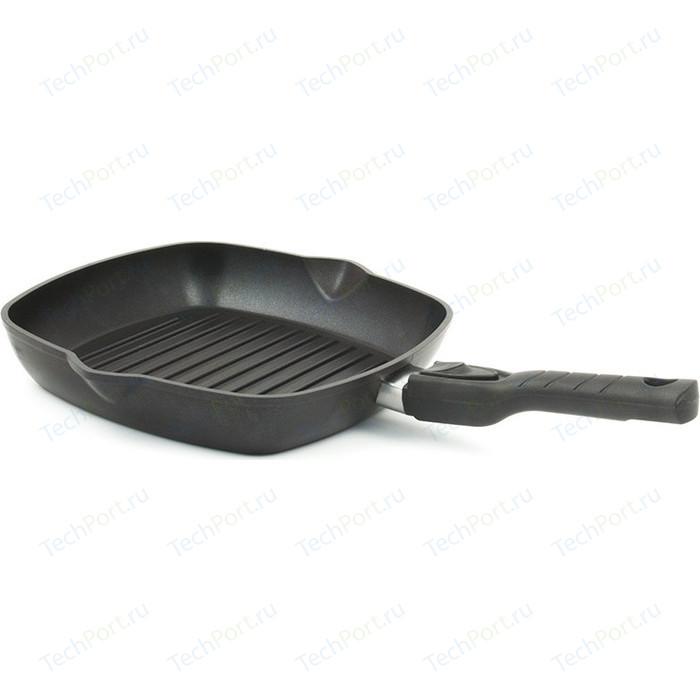 Сковорода-гриль TimA 28x28 см Шеф (2814П) сковорода гриль с крышкой и съемной ручкой agness 932 021 28x28 см
