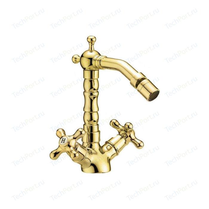 Смеситель Cezares Retro для биде с донным клапаном, золото (Retro-BS2-03)