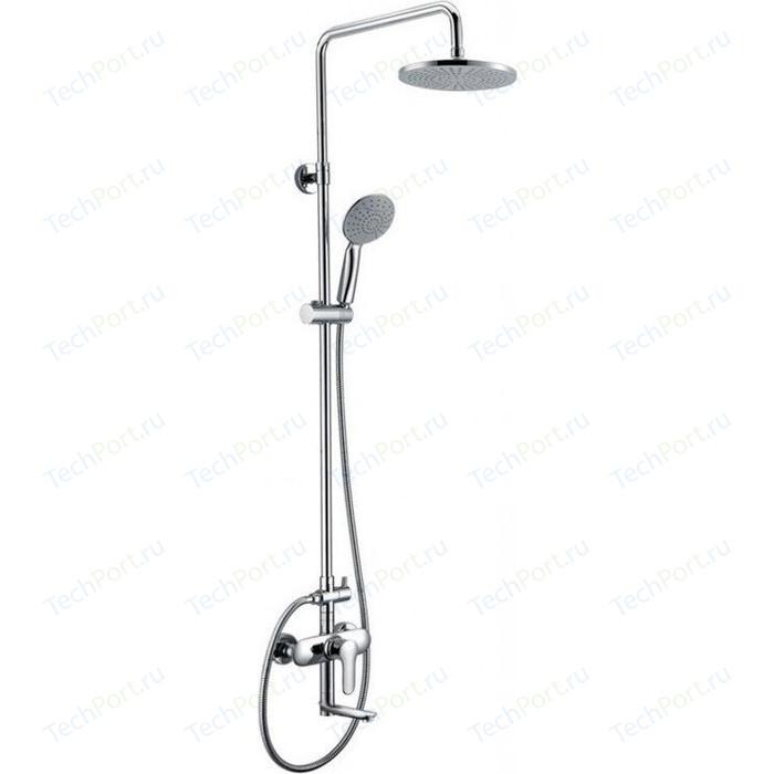 Душевая система BelBagno Reno со смесителем для ванны, излив, верхним и ручным душем, хром (REN-VSCM-CRM-IN)