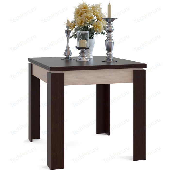 Стол обеденный СОКОЛ СО-2 беленый дуб/венге