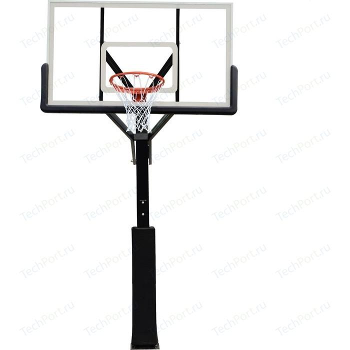 Баскетбольная стационарная стойка DFC ING72G 180x105 см (стекло)
