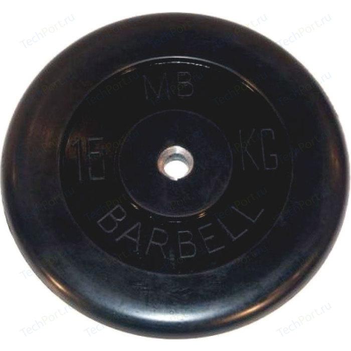 Диск обрезиненный Barbell 26 мм. 15 кг.