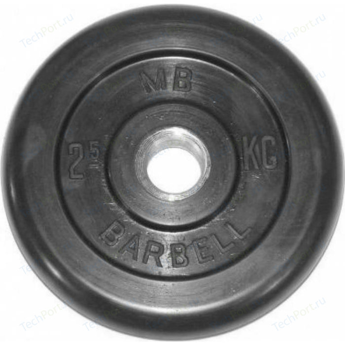 Фото - Диск обрезиненный MB Barbell 51 мм. 2.5 кг. гиря уральская 30 0 кг mb barbell titan